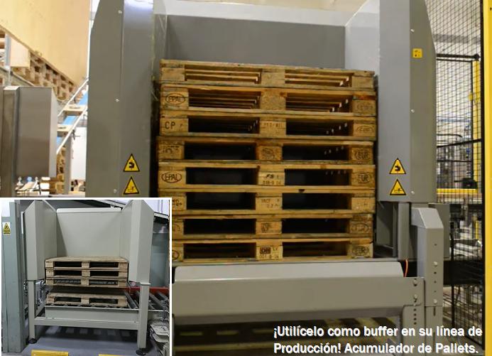 DISPENSER de Pallets. La solución para ordenar sus Pallets en Fábricas y Centros Logísticos